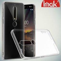 IMAK Пластиковый прозрачный чехол для Nokia 6.1