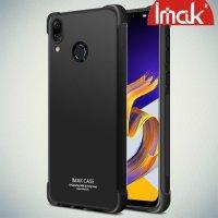 IMAK Shockproof силиконовый защитный чехол для Asus Zenfone 5Z ZS620KL / 5 ZE620KL черный и защитная пленка
