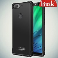 IMAK Shockproof силиконовый защитный чехол для HTC Desire 12 Plus черный и защитная пленка