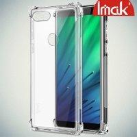 IMAK Shockproof силиконовый защитный чехол для HTC Desire 12 Plus прозрачный и защитная пленка