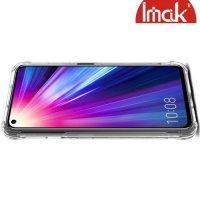IMAK Shockproof силиконовый защитный чехол для Huawei Honor 20 Pro прозрачный и защитная пленка