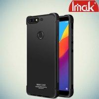 IMAK Shockproof силиконовый защитный чехол для Huawei Honor 7C Pro черный и защитная пленка