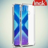 IMAK Shockproof силиконовый защитный чехол для Huawei Honor 8X прозрачный и защитная пленка