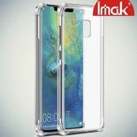 IMAK Shockproof силиконовый защитный чехол для Huawei Mate 20 Pro прозрачный и защитная пленка