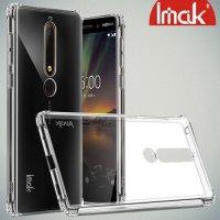 IMAK Shockproof силиконовый защитный чехол для Nokia 6.1 прозрачный и защитная пленка