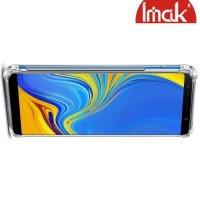 IMAK Shockproof силиконовый защитный чехол для Samsung Galaxy A7 2018 SM-A750F прозрачный и защитная пленка