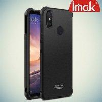 IMAK Shockproof силиконовый защитный чехол для Xiaomi Mi Max 3 песочно-черный и защитная пленка