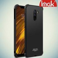 IMAK Shockproof силиконовый защитный чехол для Xiaomi Pocophone F1 черный и защитная пленка