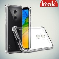 IMAK Shockproof силиконовый защитный чехол для Xiaomi Redmi 5 Plus прозрачный и защитная пленка