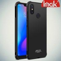 IMAK Shockproof силиконовый защитный чехол для Xiaomi Redmi 6 Pro / Mi A2 Lite черный и защитная пленка