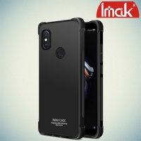 IMAK Shockproof силиконовый защитный чехол для Xiaomi Redmi Note 5 / 5 Pro черный и защитная пленка