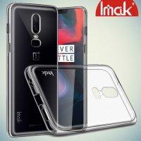IMAK Тонкий силиконовый чехол накладка для OnePlus 6 - Прозрачный
