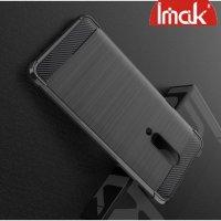 IMAK VEGA Матовый силиконовый чехол для OnePlus 7 Pro с противоударными углами черный