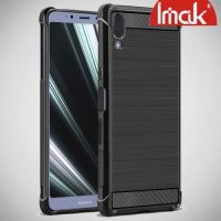IMAK VEGA Матовый силиконовый чехол для Sony Xperia L3 с противоударными углами черный
