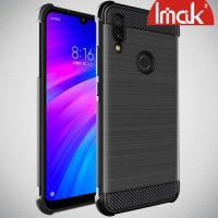 IMAK VEGA Матовый силиконовый чехол для Xiaomi Redmi 7 с противоударными углами черный