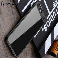 IPAKY Hybrid Прозрачный чехол с силиконовым бампером для Huawei Honor View 10 (V10) - Черный