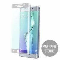 Изогнутое защитное стекло для Samsung Galaxy S6 Edge Plus серебристое