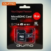 Карта памяти QUMO MicroSDHC 8ГБ Class 10 UHS-I