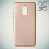 Кейс накладка DF Soft Touch для Xiaomi Redmi 5 Plus - Золотой