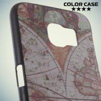 Кейс накладка для Samsung Galaxy S6 с орнаментом Земной шар