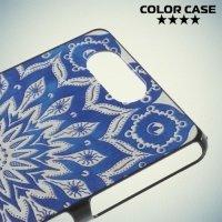 Кейс накладка для Sony Xperia Z3 Compact D5803 - с рисунком Синие узоры