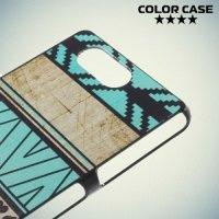 Кейс накладка для Sony Xperia Z3 Compact D5803 - с рисунком Бирюзовый узор