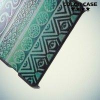 Кейс накладка для Sony Xperia Z3+ с орнаментом Бирюзовая фантазия