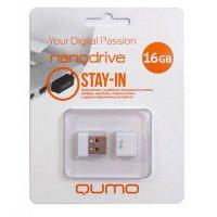 Компактная флешка для телефона и ноутбука USB Qumo Nanodrive 16Гб