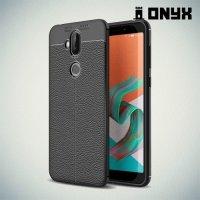 Leather Litchi силиконовый чехол накладка для Asus Zenfone 5 Lite ZC600KL - Черный