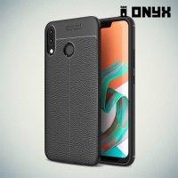 Leather Litchi силиконовый чехол накладка для Asus ZenFone 5Z ZS620KL - Черный