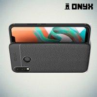 Leather Litchi силиконовый чехол накладка для Asus Zenfone Max M2 ZB633KL - Черный