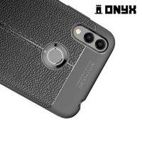 Leather Litchi силиконовый чехол накладка для Huawei Honor 8C - Черный