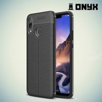 Leather Litchi силиконовый чехол накладка для Huawei Nova 3 - Черный
