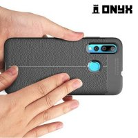 Leather Litchi силиконовый чехол накладка для Huawei nova 4 - Коралловый