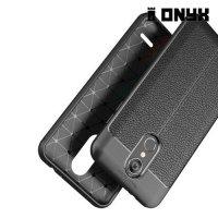 Leather Litchi силиконовый чехол накладка для LG K8 (2018) / LG K9 - Черный