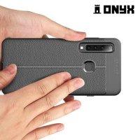 Leather Litchi силиконовый чехол накладка для Samsung Galaxy A9 2018 SM-A920F - Черный