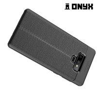Leather Litchi силиконовый чехол накладка для Samsung Galaxy Note 9 - Черный
