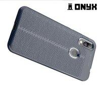 Leather Litchi силиконовый чехол накладка для Xiaomi Redmi 7 - Синий