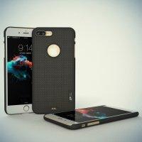 Loopee тонкий пластиковый чехол накладка для iPhone 8 Plus / 7 Plus - Черный