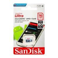 Карта памяти для телефона microSD XC SanDisk 16 Gb Class 10