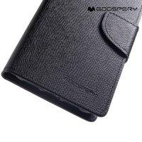 Mercury Goospery Горизонтальный чехол книжка для iPhone XR - Черный