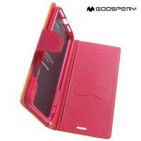 Mercury Goospery Горизонтальный чехол книжка для iPhone Xs Max - Желтый