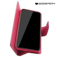 Mercury Goospery Горизонтальный чехол книжка для iPhone XR - Розовый