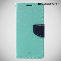 Mercury Goospery Горизонтальный чехол книжка для Samsung Galaxy S10e - Бирюзовый