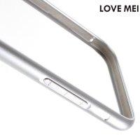 Металлический алюминиевый бампер для iPhone 8/7 - Серебряный