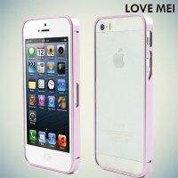 Металлический алюминиевый бампер для iPhone SE - Розовый