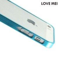 Металлический алюминиевый бампер для iPhone SE - Голубой