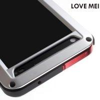 Металлический противоударный чехол LOVE MEI со стеклом Gorilla Glass для Sony Xperia Z5 Compact