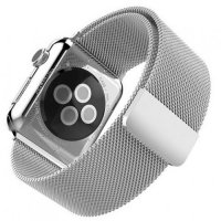 Миланский металлический ремешок для Apple Watch 38-40mm 2/3/4 Series Серебряный