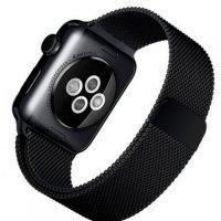 Миланский металлический ремешок для Apple Watch 38-40mm 2/3/4 Series Черный